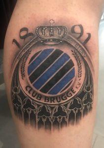 Tattoo Wesley - Club Brugge Tattoo
